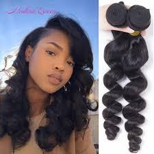 cheap brazilian loose wave human hair extensions 2 bundles