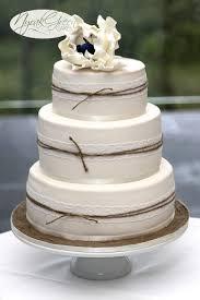lace u0026 twine 3 tier wedding cake cakecentral com