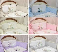 Nursery Cot Bedding Sets 5 Pcs Baby Cot Cot Bed Bumper Set Duvet Cover Pillowcase Owl