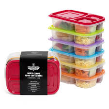 top 5 california home goods 3 compartment reusable food storage