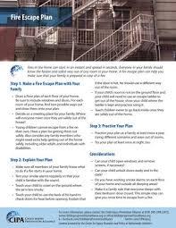 fire escape plan u2014 child injury prevention alliance