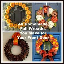 fall wreaths 40 fall wreaths to make for your front door