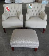 Armchairs For Living Room Decorating Pretty Tufted Armchairs And Ottoman By Craftmaster