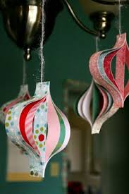 Retro Paper Christmas Decorations - cute u0026 easy to make christmas tree ornaments christmas
