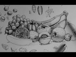 pen u0026 ink drawing tutorials how to draw a fruit and vegetable