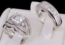 silver wedding rings engagement and bands ring sets ebay