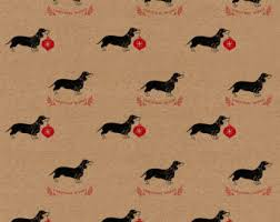 dachshund christmas wrapping paper white and green polka dots on kraft christmas wrapping