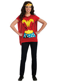 halloween costume with cape c956 superhero t shirt women costume wonder woman robin supergirl