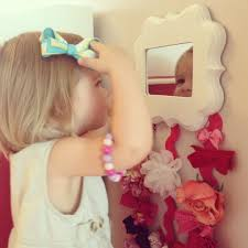 hair bow holder diy mirror and hair bow holder featured on craftaholics anonymous