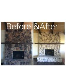 how to paint a stone fireplace home design inspirations