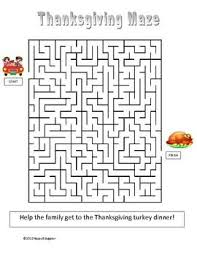 maze thanksgiving pencil and in color maze thanksgiving