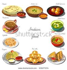 collection cuisine indian cuisine set collection food dishes stock vector 530277274