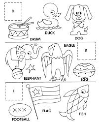 kids coloring pages fish cut paste coloring