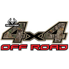 realtree 4x4 off road contour cut decal includes two 6 25