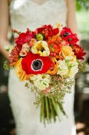 Wedding Flowers Fall Colors - bright fall colors wedding flowers playful and contemporary