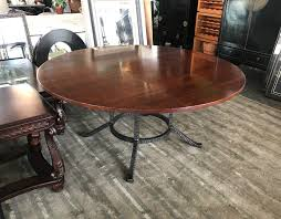 round solid cherry dining table u2013 estate interiors