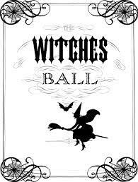 Halloween Birthday Invitations Printable Vintage Halloween Printable The Witches Ball The Graphics Fairy