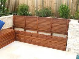 creative of garden bench storage best 25 deck storage bench ideas