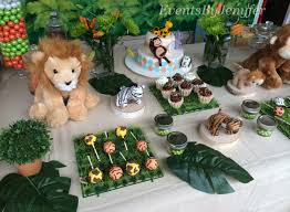 jungle theme decorations jungle baby shower table decorations home party theme ideas