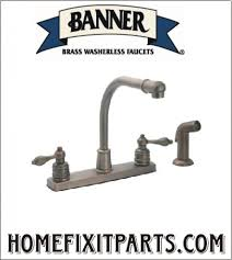 Washerless Faucets 2 Handle Kitchen Faucets