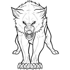 easy outlines of animals wolf template animal templates free premium templates