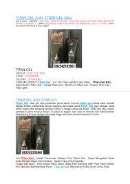 info harga titan gel asli cara pakai dan efek sing by jual