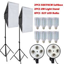 led studio lighting kit freeshipping 8pcs ls e27 led bulbs photography lighting kit photo