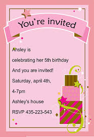 birthday invitation cards template best template collection