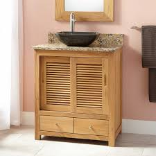 Teak Bathroom Vanity by Bathroom Teak Bathroom Vanity Cabinet With Sliding Door And Two