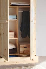 Schlafzimmerschrank Reinigen Ticaa Kleiderschrank 2 Türig Moritz Kiefer Massiv Amazon De
