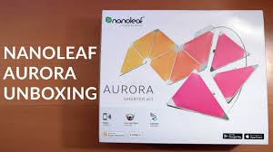 Smarter Small Home Design Kit by Nanoleaf Aurora Smarter Kit Customizable Smart Led Light Panels