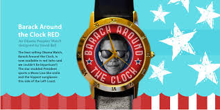 Obama Cool Clock by Limited Edition Barack Around The Clock Red Obama Watches