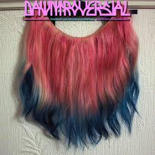 mermaid hair extensions dawntroversial flip in halo hair extensions mermaid pink to