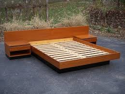 Teak Wood Modern Bed Designs Mid Century Modern Beds With Led Lighting All Modern Home Designs