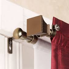 interior design double rod curtain rods interior ideas red and