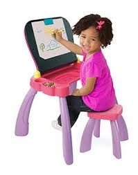 bureau tableau 2 en 1 vtech 154655 apprendre à lire et à écrire magi bureau