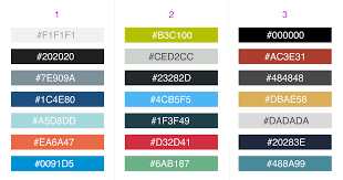 two color combinations 3 professional color combinations for business dashboards