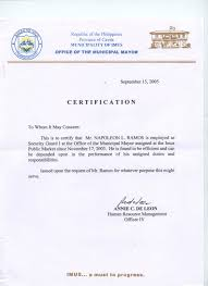 Request Letter Of Employment Certification Sle Letter Of Certification Of Employment For Visa 28 Images Sle