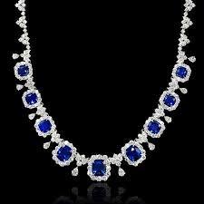 platinum necklace diamond images 19 60ct diamond and blue sapphire platinum necklace jpg