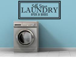 Laundry Room Hours - wall decal laundry etsy