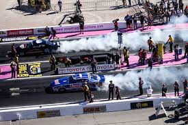 nhra car lead changes top fuel tightens at lvms las
