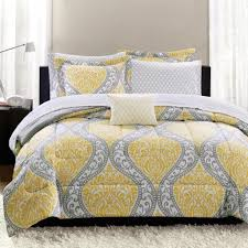 bedroom avondale manor yellow and gray bedding set for