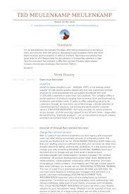 executive recruiter resume samples visualcv resume samples database