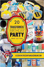 optimus prime birthday party 20 transformers birthday party ideas we spaceships and