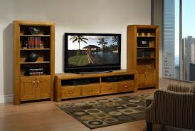 Corner Wood Tv Stands Furniture Brown Wood Costco Tv Stands On Cozy Parkay Floor With
