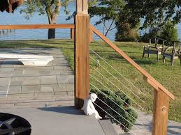 stainless steel cable railing systems modern deck portland