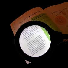 Lighted Magnifying Lamp Floor by Battery Operated Lighted Magnifier With Flexible Gooseneck