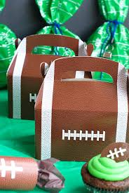 football favors day football birthday party squared
