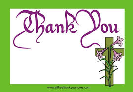 religious thank you cards free easter thank you notes and thank you cards