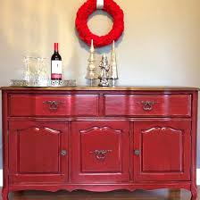 tuscan red and antique walnut buffet general finishes design center